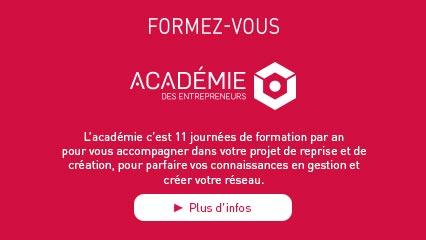 FORMEZ-VOUS ! L'académie c'est plusieurs journées de formation par an pour vous accompagner dans votre projet de reprise et de création, pour parfaire vos connaissances en gestion et créer votre réseau.