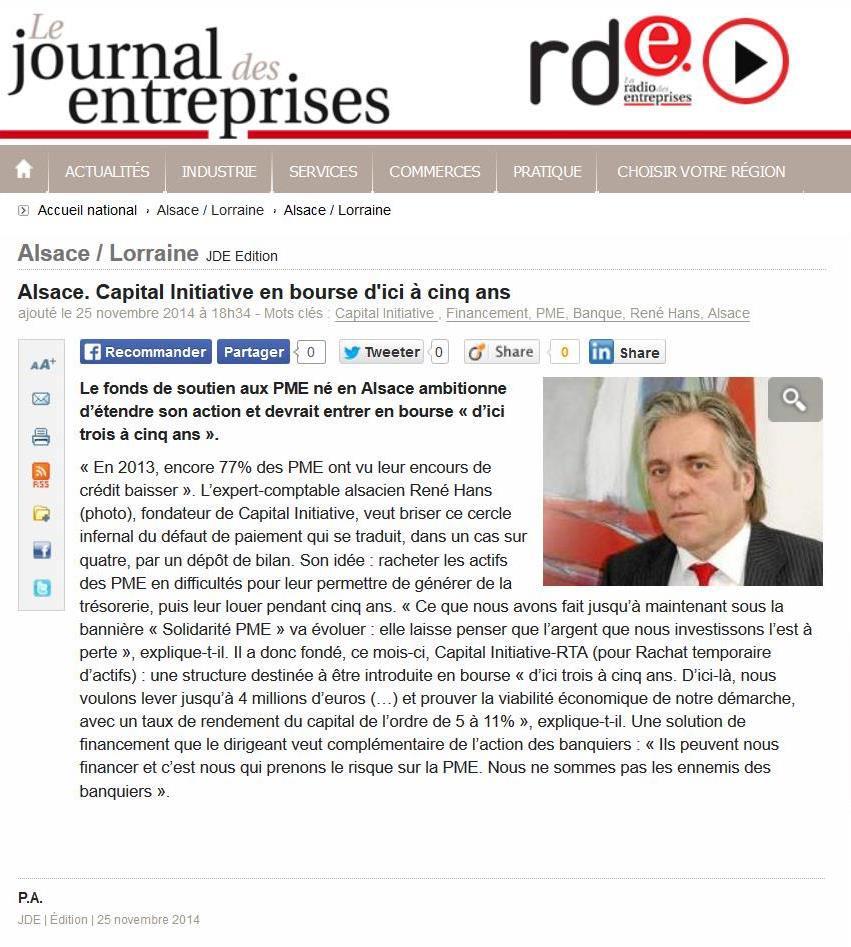 Article journal des entreprises RH 2014