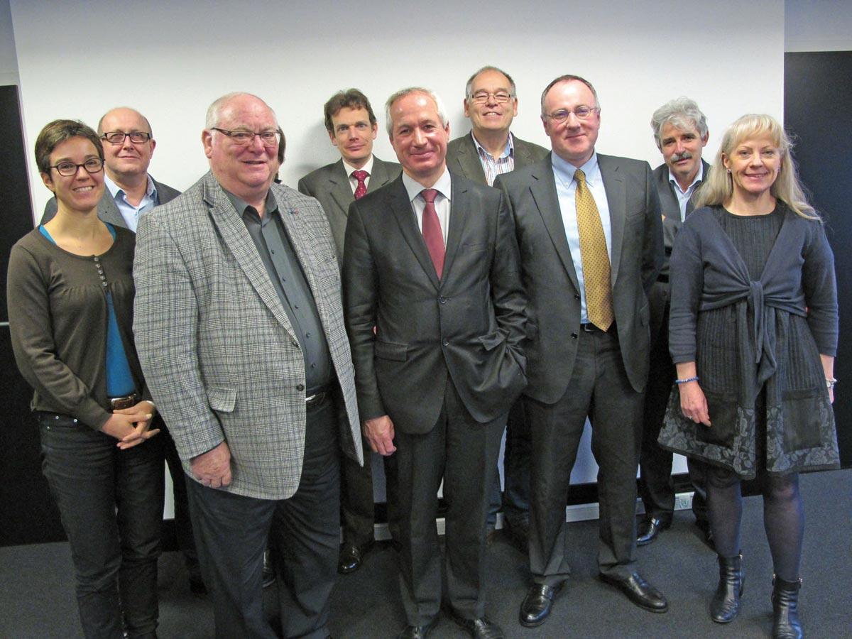 lequipe de Mulhouse, avec au centre le Président Philippe Trimaille, à sa gauche Vincent Froehlicher. On remarque aussi à droite C