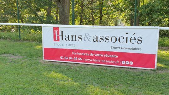 banderole Hans & associés l'Etampes Rugby Club