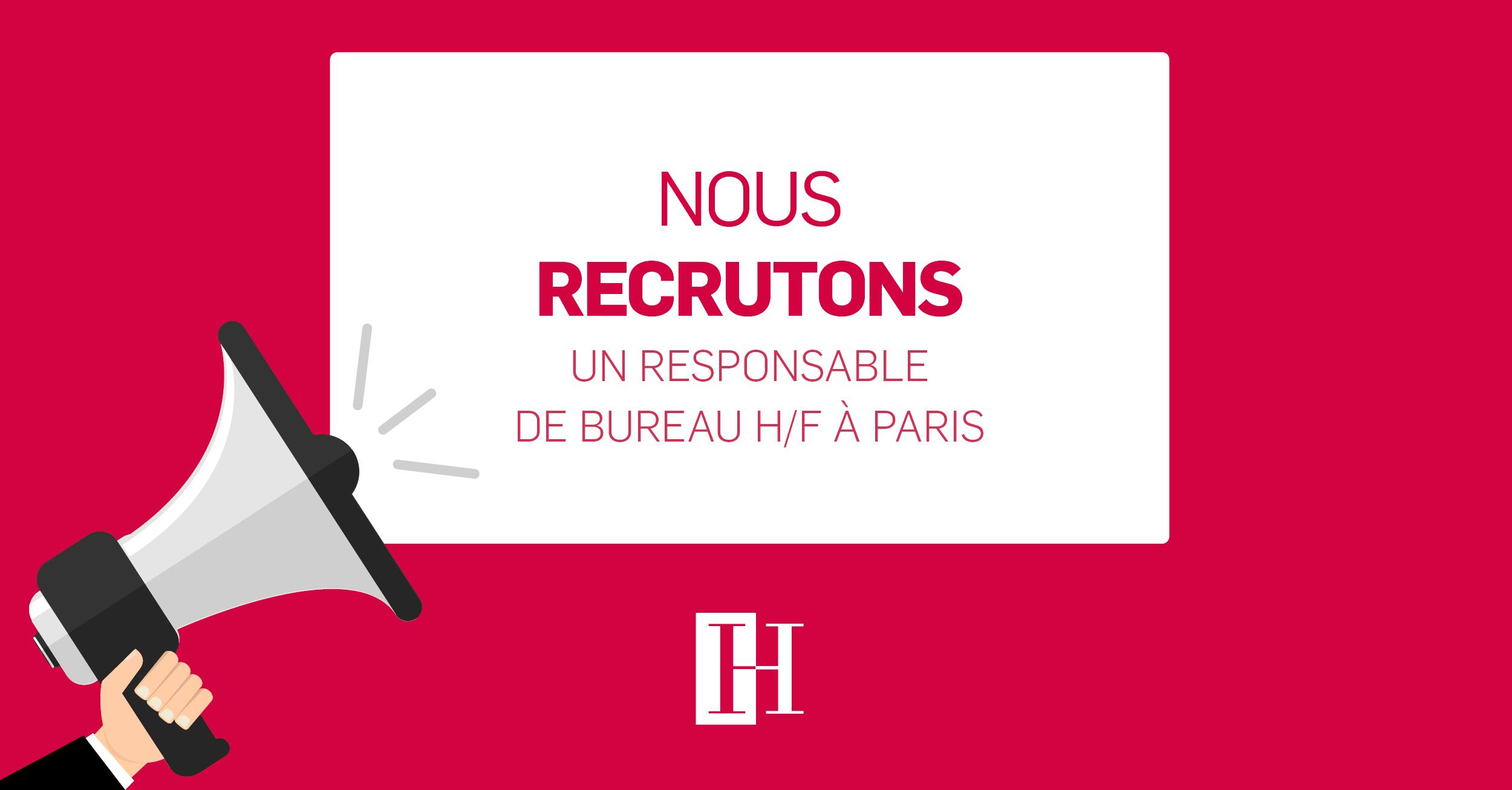 Offre d'emploi Responsable de Bureau Paris