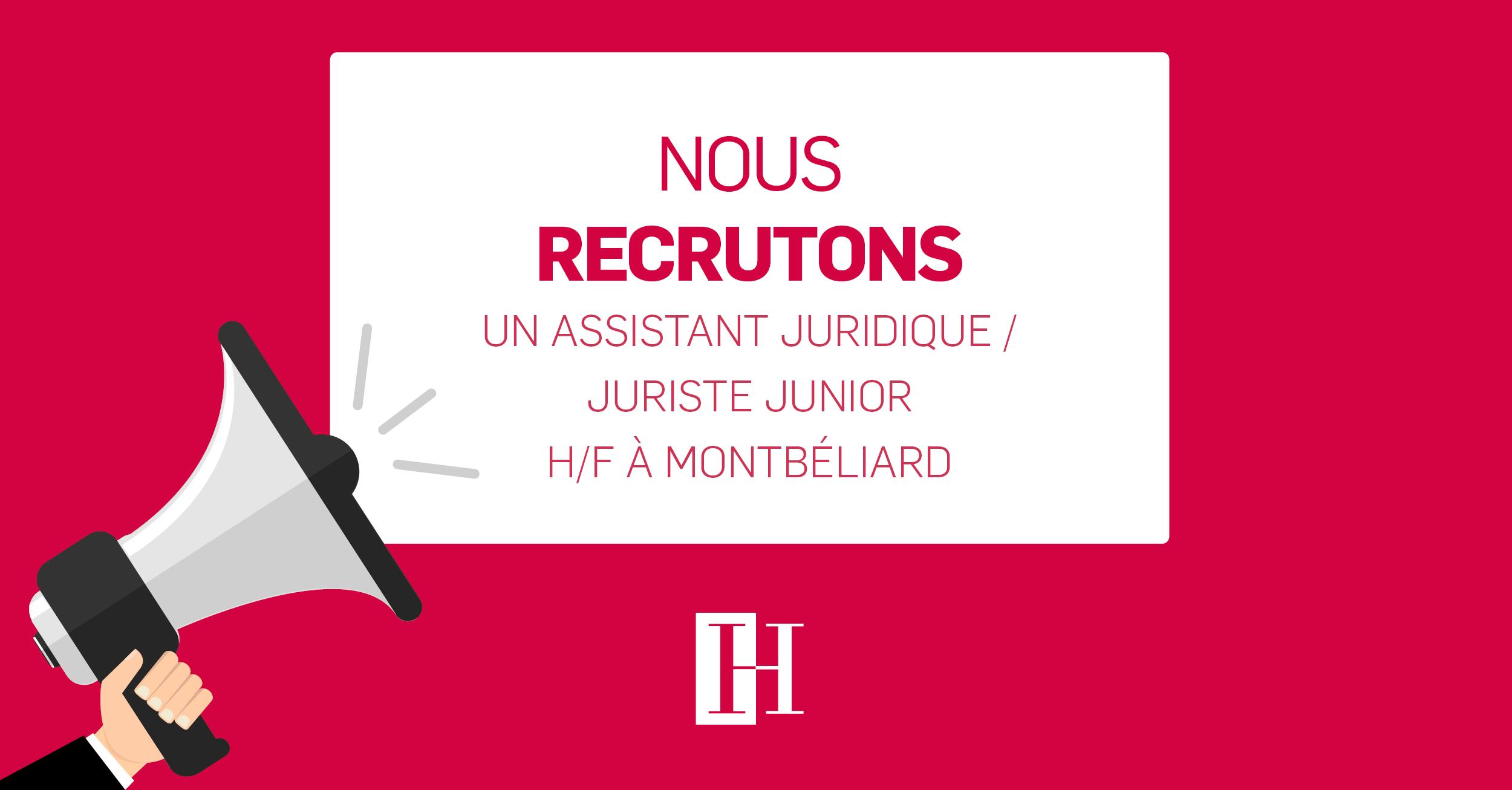 Offre d'emploi Assistant Juridique - Juriste Junior